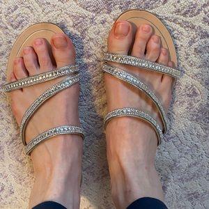 Mariella beaded/rhinestone sandals